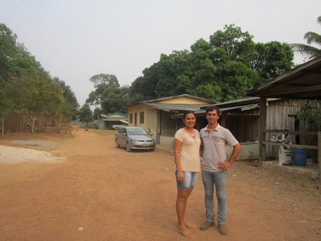 After living in the city for 10 years, Oliveira and Marcely Federicci da Silva, a young married couple, decided to return to work on their farm with a sustainable agriculture project, nearby Alta Floresta, in the so-called Portal of the Amazon, in the west-central Brazilian state of Mato Grosso. Credit: Mario Osava/IPS