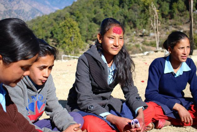 Rashmi Hamal is a local heroine who helped to save her friend from an early marriage. She campaigns actively against child marriages in the Far Western Region of Nepal. Credit: Naresh Newar/IPS