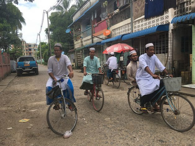 Muslims in the Thingangyun community of Yangon. They say extremist Buddhist monks sometimes try to provoke them by shouting nationalist slogans in their neighborhood. Credit: Pascal Laureyn/IPS
