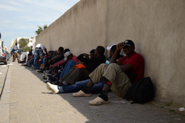 Refugees from the Choucha camp in Tunisia are demanding recognition of their legal status. Credit: Alberto Pradilla/IPS