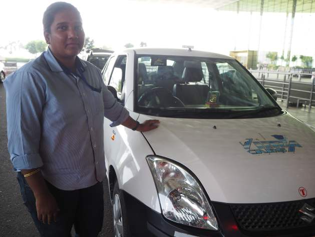 Jahhavi Kshsarter at Chhatrapati Shivaji International Airport Mumbai. Credit: Ida Karlsson/IPS. Viira Cabs is a taxi company run by women for women in Mumbai, it employs only female drivers who are all trained in self-defence.
