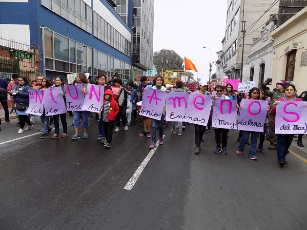 Peru ended 2017 with 116 victims of femicide and 223 women who survived this gender-based crime. Credit: Courtesy of Julia Vicuña