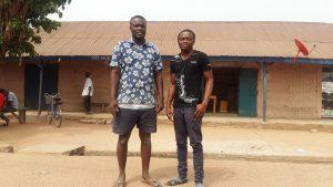 Nazir (left) and Usman both returned to Ghana from Libya in 2011, among some 19,000 Ghanaians who fled back home. Credit: Kwaku Botwe/IPS