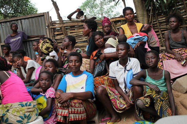 Displaced women at the Simba Mosala Site in Kikwit, Democratic Republic of Congo. Credit: Badylon Kawanda Bakiman/IPS