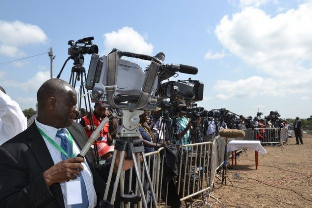 Local and foreign journalists cover a church function at Dedan Kimathi University, Kenya, in May 2015. Advocates of press freedom see an alarming decline in recent years. Credit: Miriam Gathigah/IPS