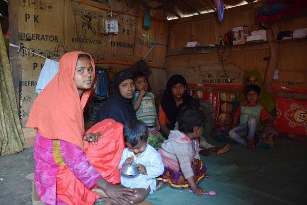 Rohingya refugee women in Jammu, India. Credit: Stella Paul/IPS