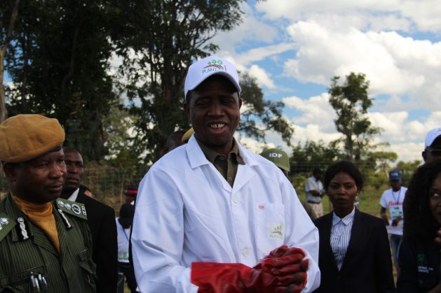 President Edgar Lungu just before planting a tree during the launch of Plant a Million Trees Initiative in Chinsali District. Credit: Munich Advisors Group
