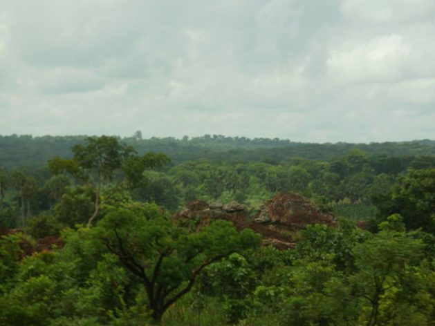 Forested hills in Guinea's Kintampo area. Credit: CC by 3.0