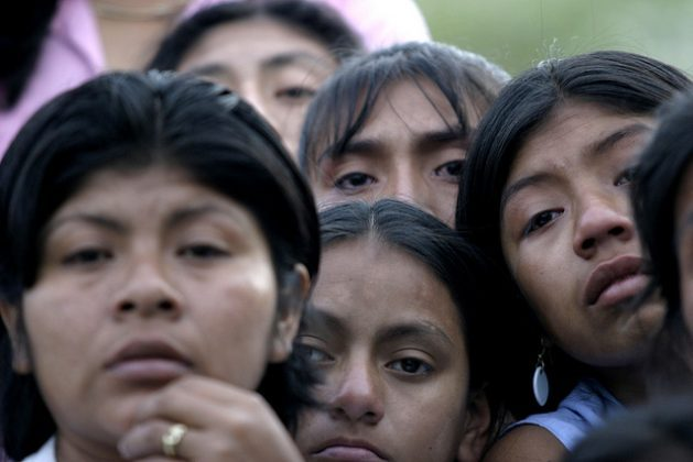 A group of girls from the Amazon region of Peru, the region with the highest teen pregnancy rate, including girls under 14. Latin America is the second region in the world in terms of teen pregnancy, only behind sub-Saharan Africa. Credit: Mariela Jara/IPS