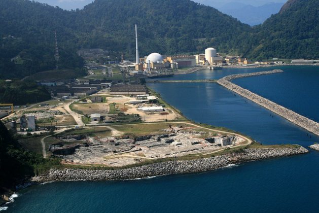 Aerial image of the area where the third nuclear power plant is to be built in Angra, next to the Angra 1 and Angra 2 plants, in a coastal area near the city of Angra dos Reis, south of Rio de Janeiro, in southeastern Brazil. Credit: Divulgação Eletronuclear