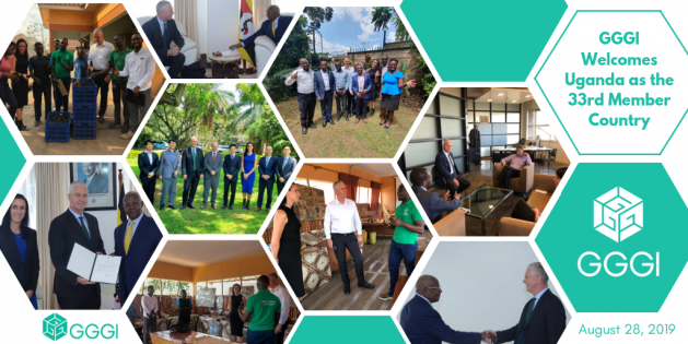 The Global Green Growth Institute (GGGI) welcomed the Government of Uganda (GoU) as its thirty-third Member, committing to support the country in achieving its Nationally Determined Contribution (NDC) and implementing its National Adaptation Plan. GoU sought for GGGI's membership in 2015 by signing a letter of intent to support the country in its effort to transition to a green economy as the vehicle for sustainable development