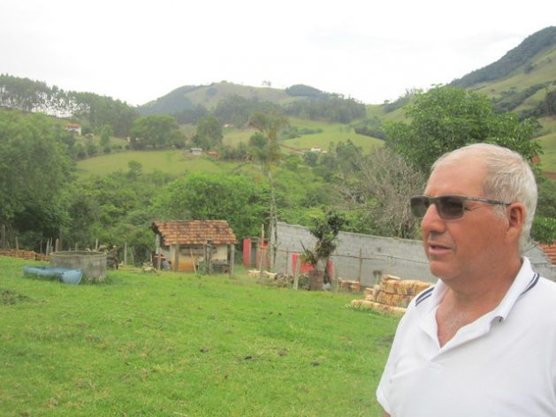 """Elias Cardoso is proud of the restored forests on his 67-hectare farm, where he has protected and reforested a dozen springs as well as streams. """"I was a guinea pig for the Water Conservator project, they called me crazy,"""" when the mayor's office was not yet paying for it in Extrema, a municipality in southeastern Brazil. Credit: Mario Osava/IPS"""
