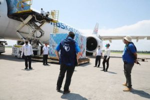 WFP-chartered planes bring in supplies and equipment to help the humanitarian community respond to the COVID-19 pandemic in the world's largest refugee camp in Cox's Bazaar, Bangladesh. ©WFP Bangladesh/Gemma Snowdon. Mr Guterres has asked all governments to grant permission for humanitarian flights to land until regular commercial flight services are restored. With each flight, WFP and our partners will take all necessary precautions to avoid transmitting the virus. But without access, it will be a struggle to ensure that people everywhere have the medical supplies and equipment they need to face this pandemic.