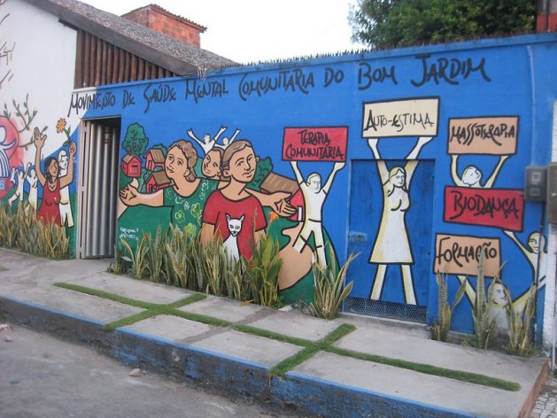 The wall at a Community Mental Health Movement in Brazil. Credit: Mario Osava/IPS