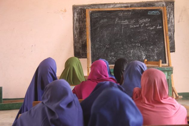Studies have shown that the longer a girl stays in school, the less likely she is to be forced into child marriage. With many schools currently shut down and girls are not going to school, an increase in child marriage is expected. Credit: Ahmed Osman/IPS