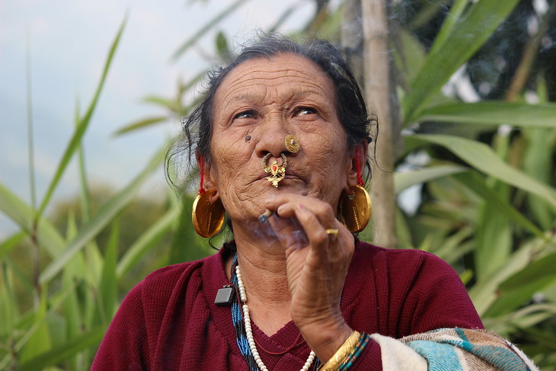 An ethnic matriarch in India's biodiversity-rich Sikkim State in the Himalayan foothills. She is a repository of traditional knowledge on plants both for food and medicinal properties. Experts say that indigenous women are being denied their fundamental right to access information because the information is not being disseminated in indigenous languages. This is especially crucial as indigenous women hold a key role as caretakers in many of their communities.Credit: Manipadma Jena/IPS