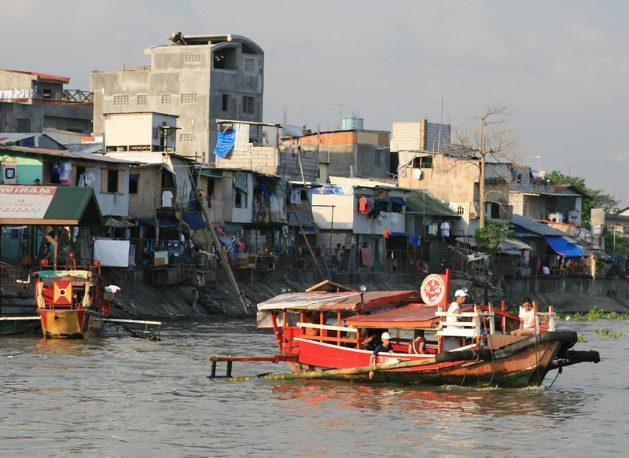 A boat on Pasig River in the Philippines. The Philippines has the highest mortality rate from the coronavirus in Southeast Asia. Credit:Kara Santos/IPS