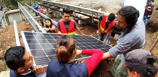 Onergia, one of the two energy cooperatives operating in Mexico today, installs photovoltaic systems, such as this one at the Tosepan Titataniske Union of Cooperatives in the municipality of Cuetzalan, in the southern state of Puebla. CREDIT: Courtesy of Onergia