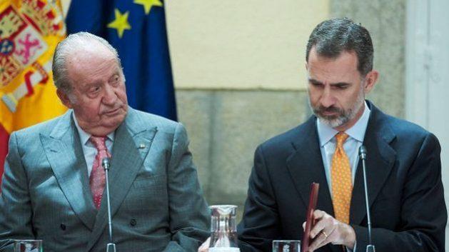 King Felipe VI of Spain and his father King emeritus Juan Carlos. Credit: Palacio de la Zarzuela.