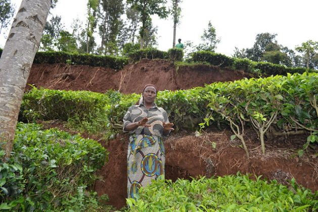 How inclusive is activism and discussions on climate change? Most environmental movements and organisations in the United States and Europe are primarily white and middle class, and hold vast amount of resources and set the agenda for policy work and ecosystem recovery. This dated photo shows a landslide in central Kenya that resulted after intense rainfall - one of the consequences of climate change. Credit: Isaiah Esipisu/IPS