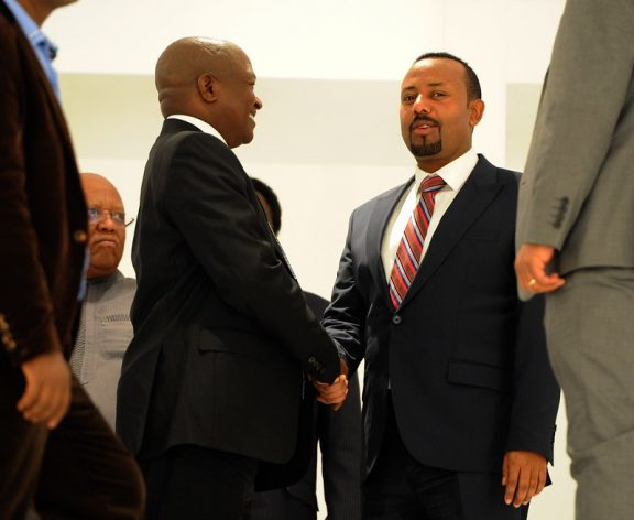 Ethiopia's Prime Minister Abiy Ahmed shrugged off concerns that Ethiopia could descend into civil war, even as reports of clashes between federal soldiers and those loyal to the Tigray region's governing party continued. Courtesy: GCIS