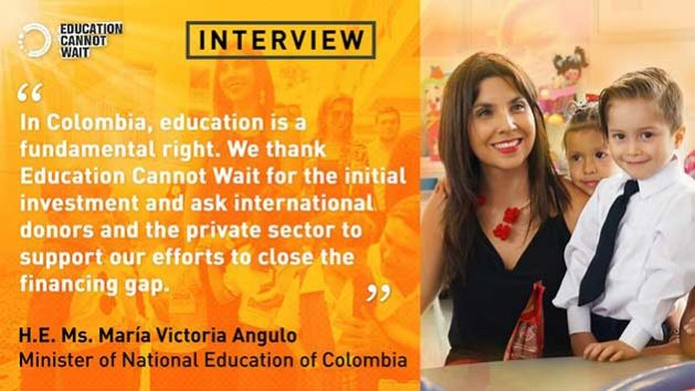 María Victoria Angulo is Colombia's Minister of Education. She holds a Master´s Degree in Development Economics from the Universidad de Los Andes and a Master´s Degree in Specialized Economic Analysis from Pompeau Fabra University (Barcelona, Spain). The minister has more than 20 years of experience in educational policy development.