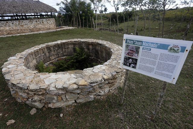 It took seven months of digging without machines on the Finca Marta to find enough water in a 14-metre deep well for the farm's organic crops and small livestock, some 20 km west of Havana. CREDIT: Jorge Luis Baños/IPS