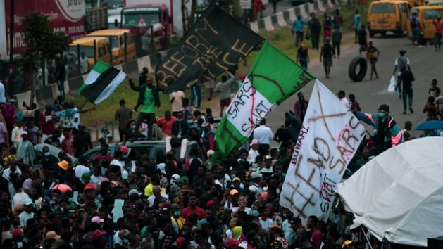 Youth in Nigeria protested against the brutalities and extrajudicial killings by the rogue police unit known as SARS. The #EndSARS protests became a global movement as international corporations and celebrities offered their support.Photo by Ayoola Salako on Unsplash