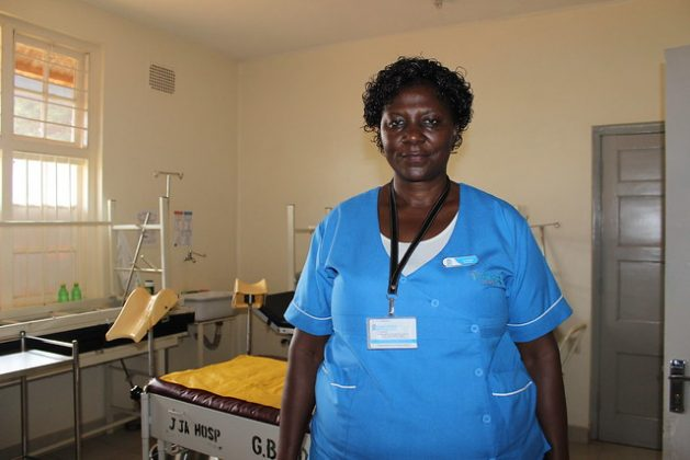Catherine a nurse at Jinja referral hospital in Uganda. (file photo) During the height of the COVID-19 pandemic, caseworkers — the majority of whom are women — attended work daily. The 65th session of the UN Commission on the Status of Women (CSW) is currently being held. This year's them is women's full and effective participation and decision-making in public life, as well as the elimination of violence, for achieving gender equality and the empowerment of all women and girls. Credit: Lyndal Rowlands/IPS.