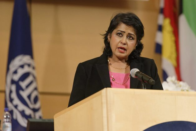 Ameenah Gurib-Fakim is the first woman president of Mauritius and a renowned biodiversity scientist. Courtesy: International Labour Organisation/Crozet / Pouteau