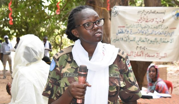 Major Steplyne Buyaki Nyaboga of Kenya was named the UN 2020 Military Gender Advocate of the Year.