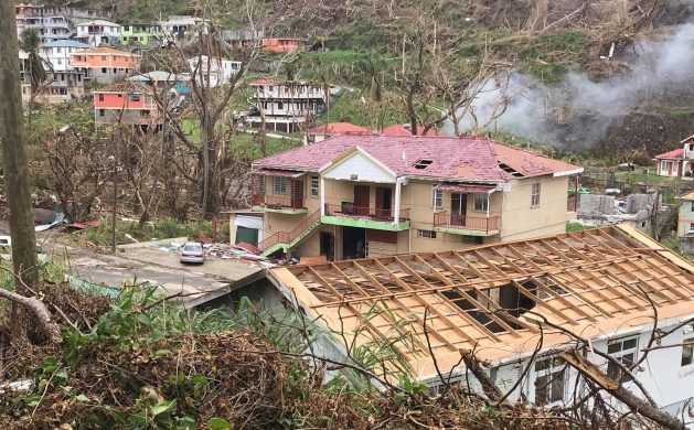 Wallhouse, Dominica, 2017, a few days after Category 5 Hurricane Maria struck the island. At the Latin America and the Caribbean Climate Week the Dominican Republic called for a consolidated regional vision in the face of climate change that would bring a strong regional position to COP26. Credit: Alison Kentish/IPS