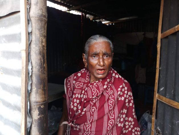 A domestic worker in her house in the Dhaka's Malibagh slum. She no longer has work because of the COVID-19 pandemic. Courtesy: Rafiqul Islam