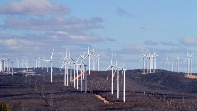 View of a wind farm in the interior of Bahia, a state in Brazil's Northeast region where wind power already provides most of the local electricity and was critical in some years between 2012 and 2018 when severe drought reduced the generation capacity of hydroelectric plants. CREDIT: FP/Fotos Publicas