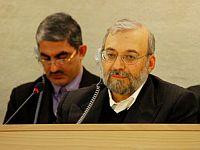 Mohammad Javad Larijani, secretary-general of Iran's High Council for Human Rights, at the Human Rights Council in Geneva. Credit: Ehsan Norouzi