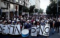 Greeks protesting against austerity measures. Credit: Apostolis Fotiadis/IPS