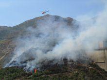 Fire threatens Salamonde dam in Peneda-Gerês Natural Park. Credit: Katalin Muharay/IPS
