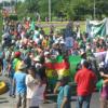 Via Campesina march at Cancún.  Credit: Mantoe Phakathi/IPS