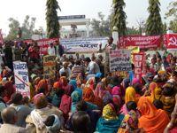 Rally against an asbestos plant in Muzzaffarpur, Bihar.   Credit: Ban Asbestos Network of India