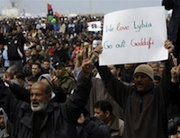 Anti-Gaddafi demonstration. Credit:  Gratiane de Moustier/IRIN