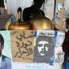 Freedom tea for sale as Che Guevara makes an appearance.  Credit: Yazeed Kamaldien/IPS