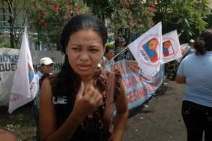 Rape victim Fátima Hernández at a protest this month in Managua demanding justice.  Credit: Oscar Sánchez /IPS