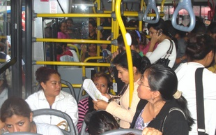 Women-only bus in Guatemala City.  Credit: Danilo Valladares/IPS