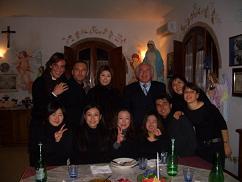 Terranova with students after the concert. Credit: Yukari Susaki