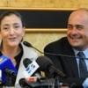 Ingrid Betancourt with Nicola Zingaretti, president of the Rome province. Credit: Sabina Zaccaro
