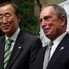 Secretary General Ban Ki-moon meets with New York's mayor Michael Bloomberg on Jun. 23. Credit: Haifa Jedea/IPS