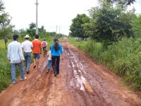 The road to Juliana Fleitas. Credit: David Vargas/IPS