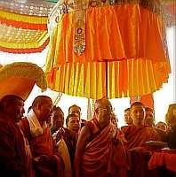 The Dalai Lama during his July visit to the Lahaul Spiti valley in Himachal Pradesh state  Credit: dalailama.com