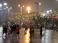 The Olympic flame at Beijing's Bird's Nest stadium.  Credit: Antoaneta Bezlova/IPS