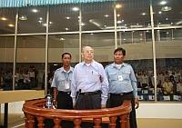 Khmer Rouge leader leng Sary at hearings. Credit: ECCC pool